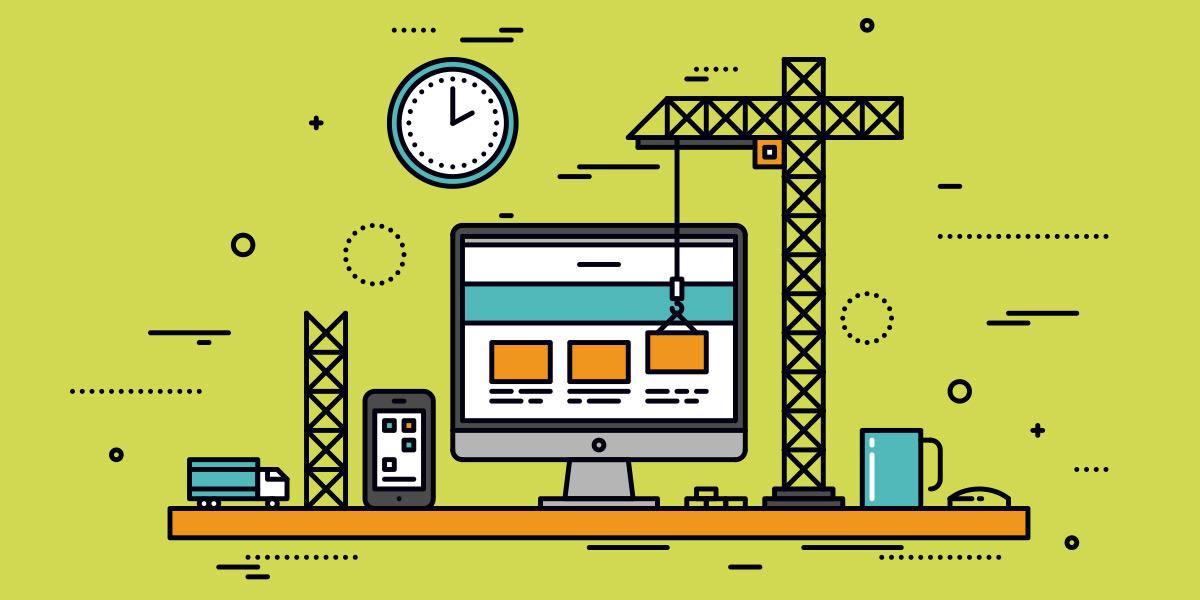 Webseite als dauerhafte Baustelle