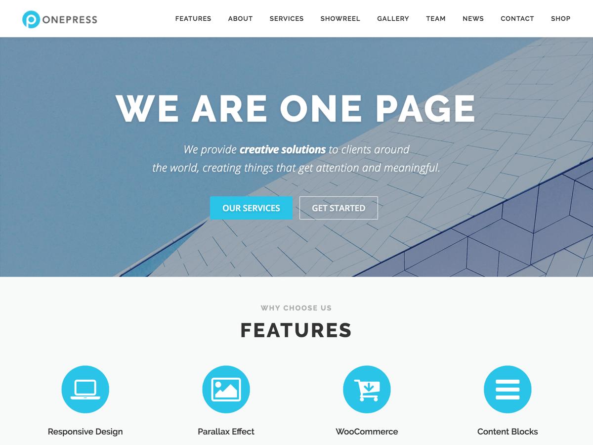 Onepress Theme – Wie bekomme ich den Wordpress Link aus dem Footer?