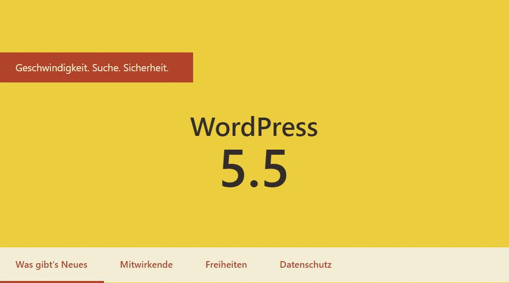 Wordpress update Version 5.5