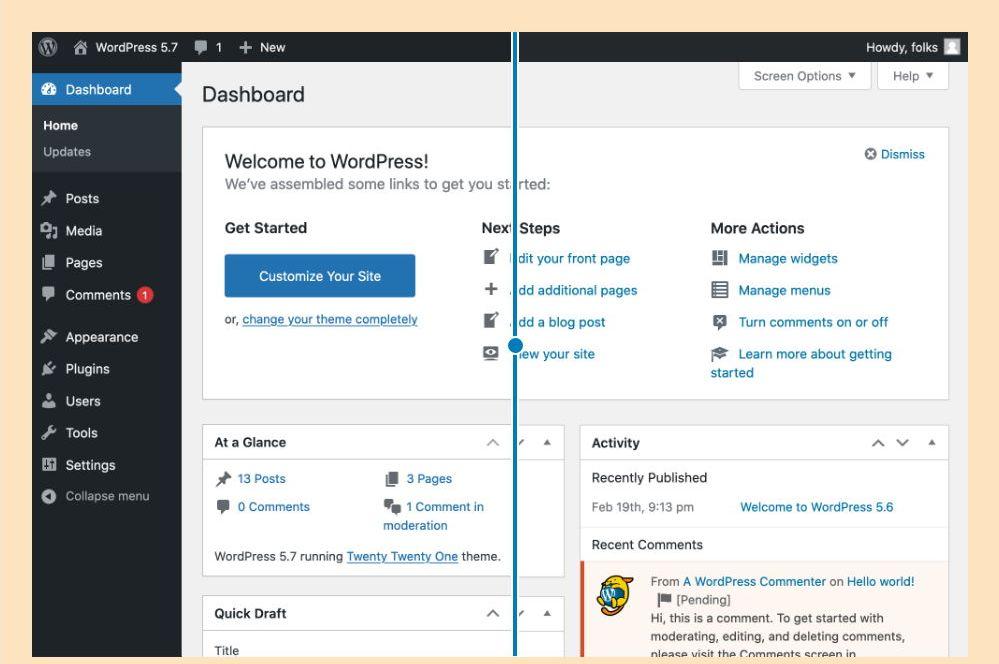 Wordpress übersichtliche standard farbpalette