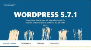 Wordpress update 5.7.1