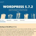 Wordpress update 5.7.2