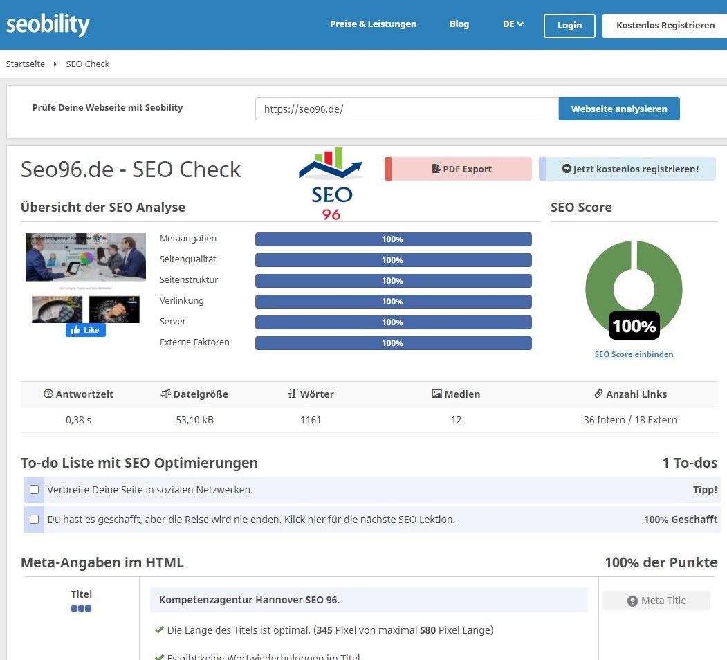 Backlink Eintrag im SEO Webkatalog.