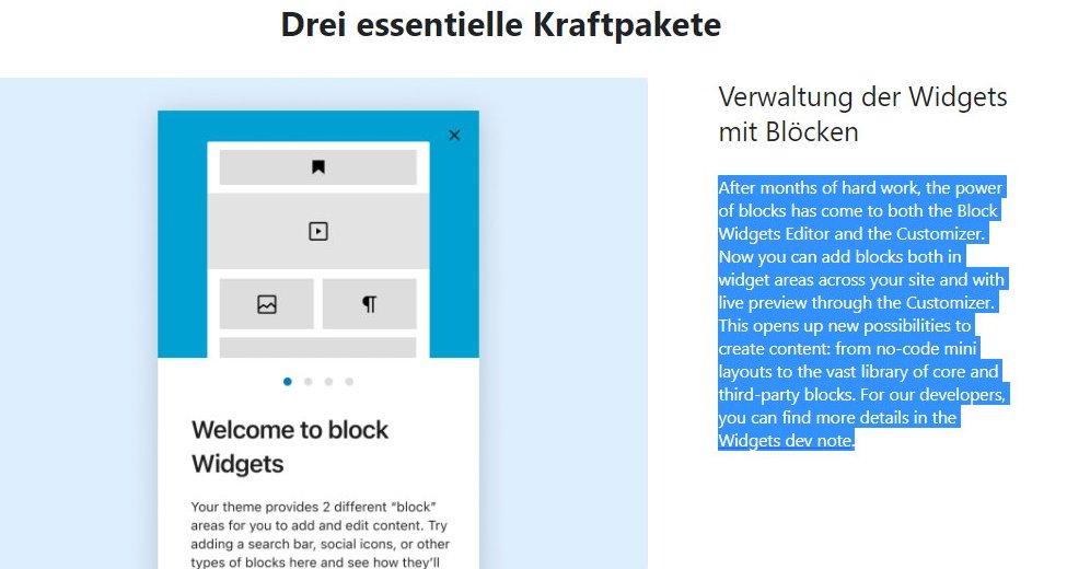 Wordpress 5.8 Kraftpakete